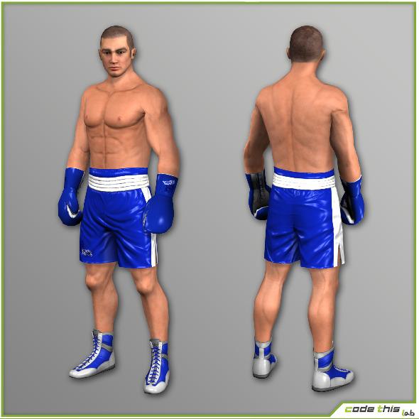 3DOcean White Boxer 7548 tris 8511149