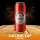 Can Mockup 500 ml - GraphicRiver Item for Sale
