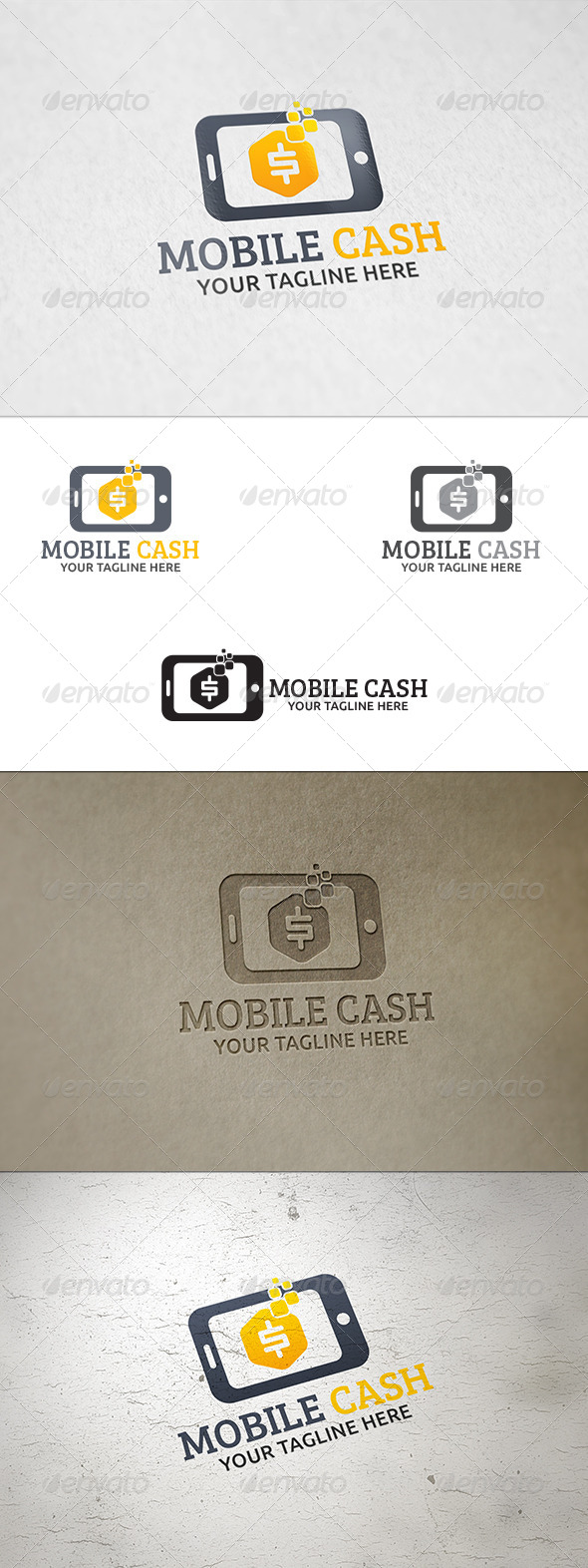 Mobile Cash Logo Template