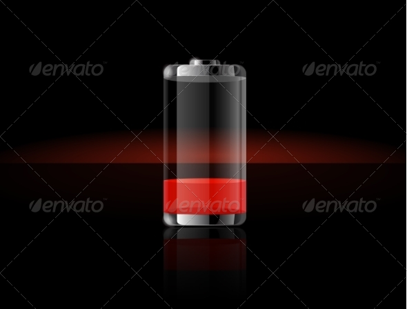 GraphicRiver Ends in Red Battery Charge 8511529