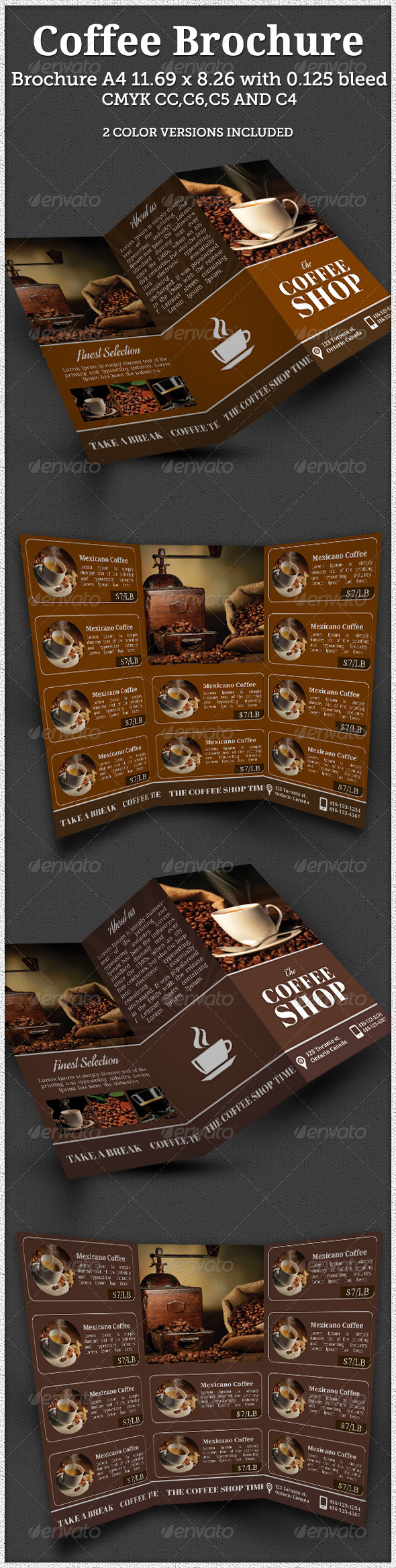 GraphicRiver Coffee Shop Brochure 8511663