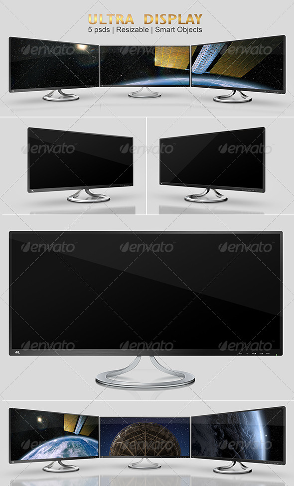 GraphicRiver Ultra Wide Display Mock-Ups 8507803