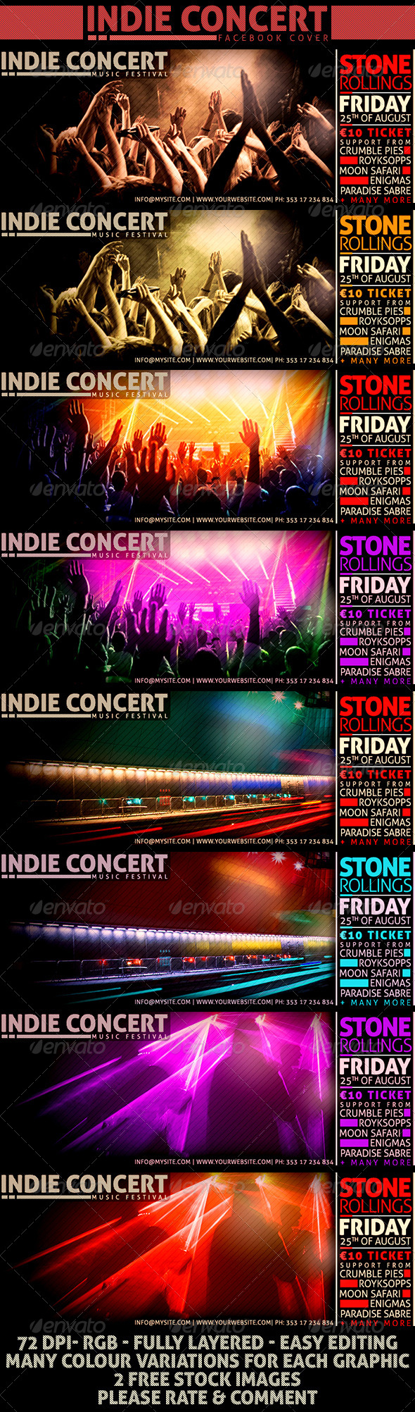 GraphicRiver Indie Concert Facebook Cover 8506947