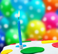 Lighted candles on a birthday cake - PhotoDune Item for Sale