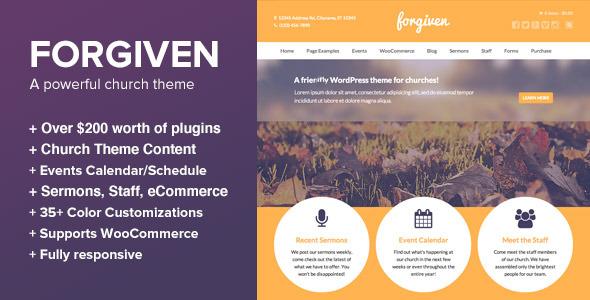 Forgiven - A Powerful WordPress Theme for Churches