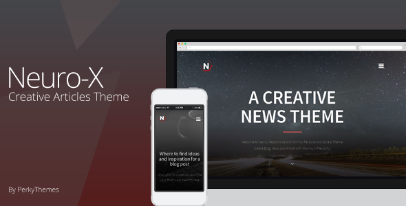 ThemeForest Neuro-x Blogging Minimal Theme 8368103