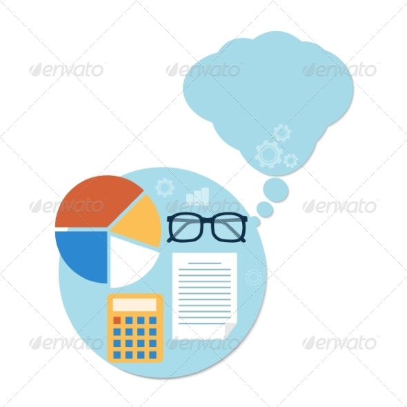 GraphicRiver Calculator Page Chart and Glasses 8511840