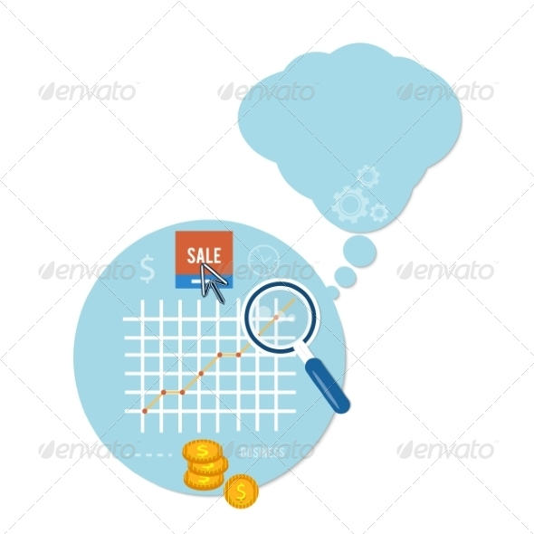 GraphicRiver Magnifying Glass and Chart 8511945