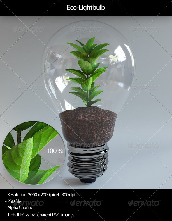 Eco-Lightbulb - Objects 3D Renders