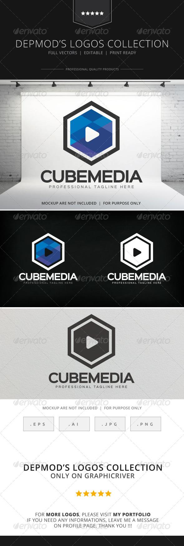 GraphicRiver Cube Media Logo 8512018