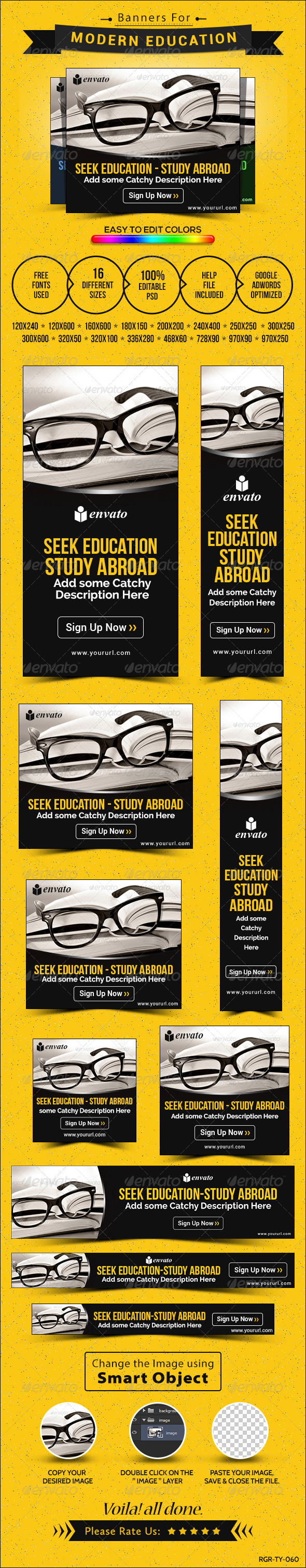 GraphicRiver Education Banners 8512052