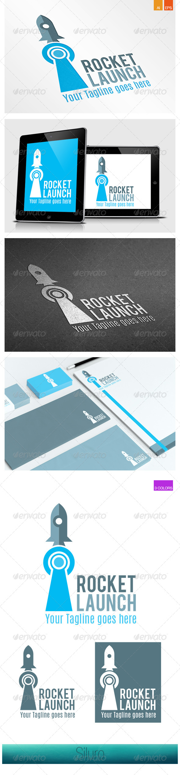GraphicRiver Rocket Launch Logo 8512136