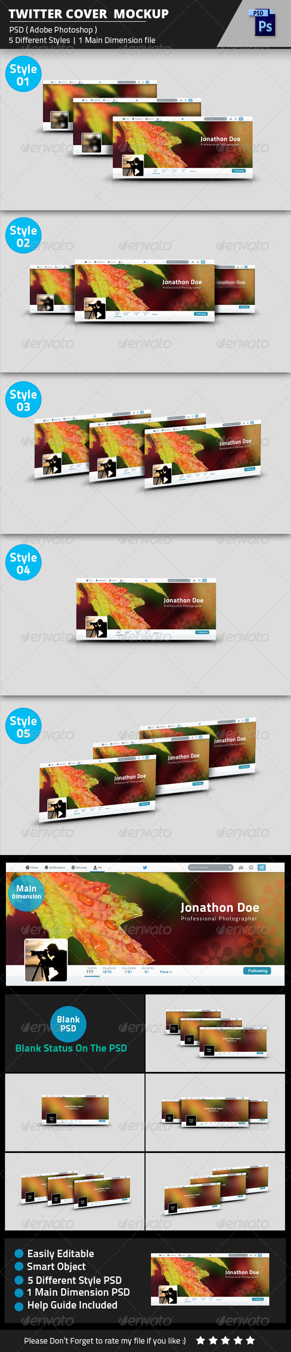 GraphicRiver Twitter Cover Photo Mockup 8512212