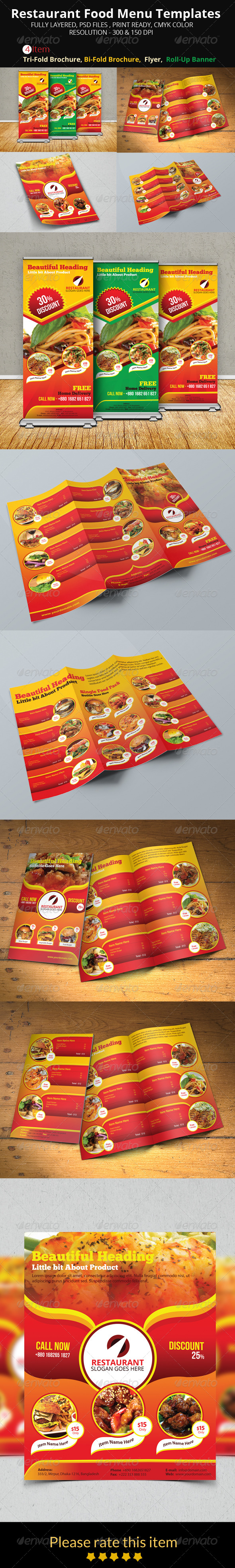 GraphicRiver Restaurant Food Menu Templates 8512213