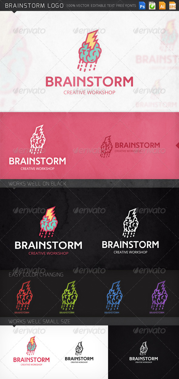 GraphicRiver Brainstorm Logo 8512239