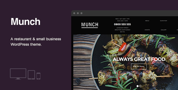ThemeForest Munch Restaurant & Business WordPress Theme 8348506