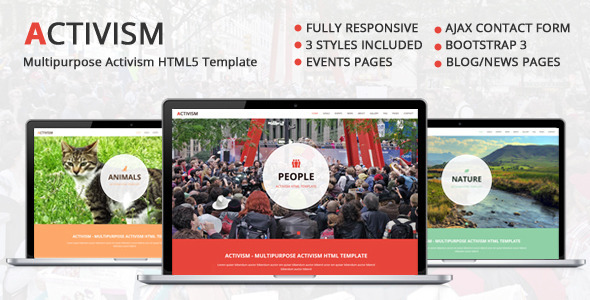 ThemeForest Activism Multipurpose Activism HTML5 Template 8416320