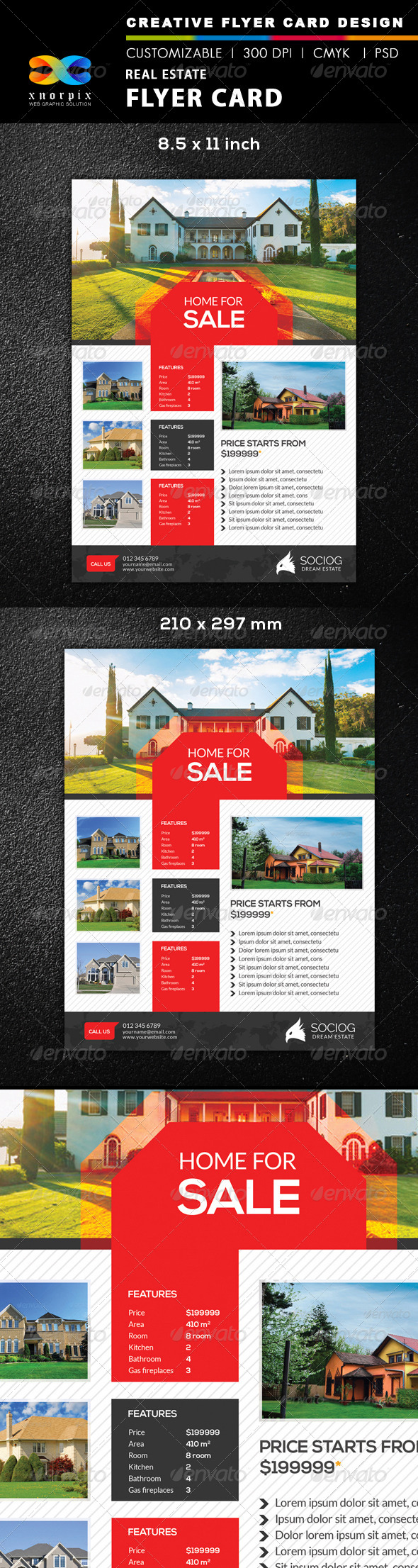 GraphicRiver Real Estate Flyer 8511538