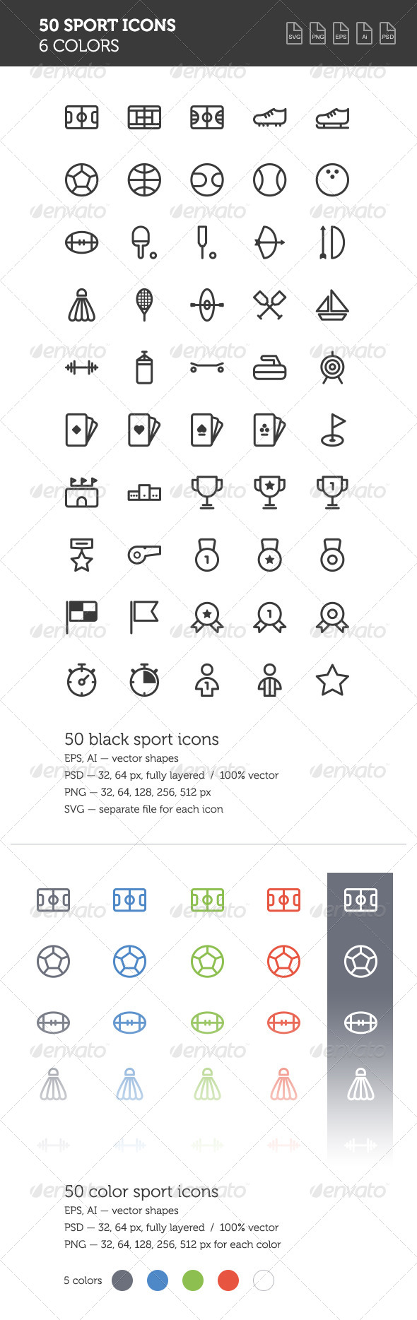 GraphicRiver Sport Icon Set 8512599