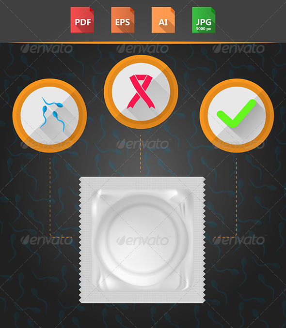 GraphicRiver Flat Style Condom 8512875