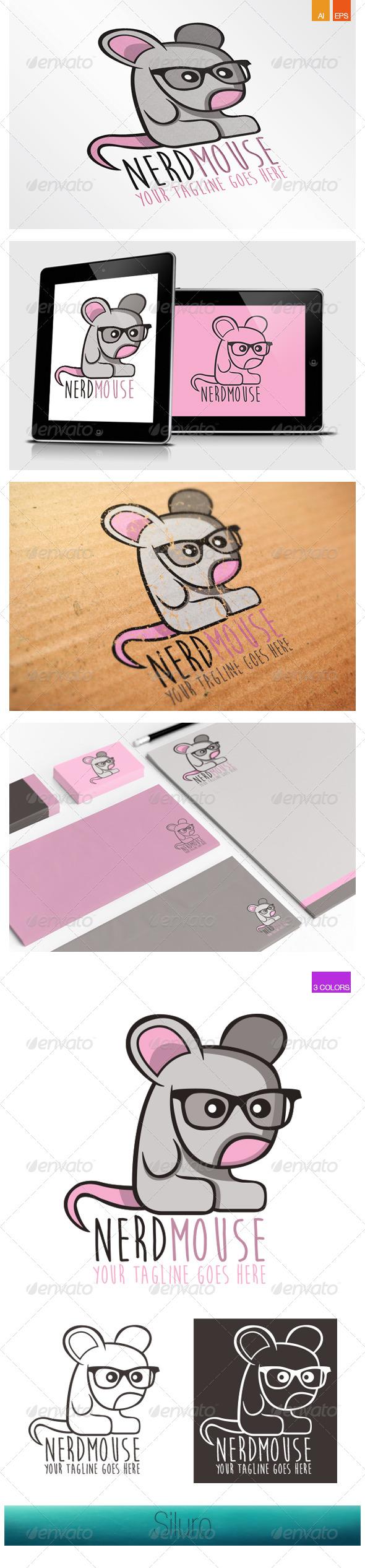 GraphicRiver Nerd Mouse Logo 8512909
