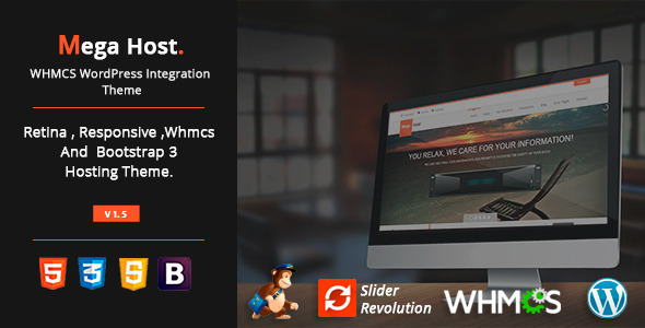 MegaHost - WHMCS WordPress Integration Theme - Hosting Technology