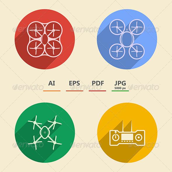 GraphicRiver Quadrocopter icons 8513118