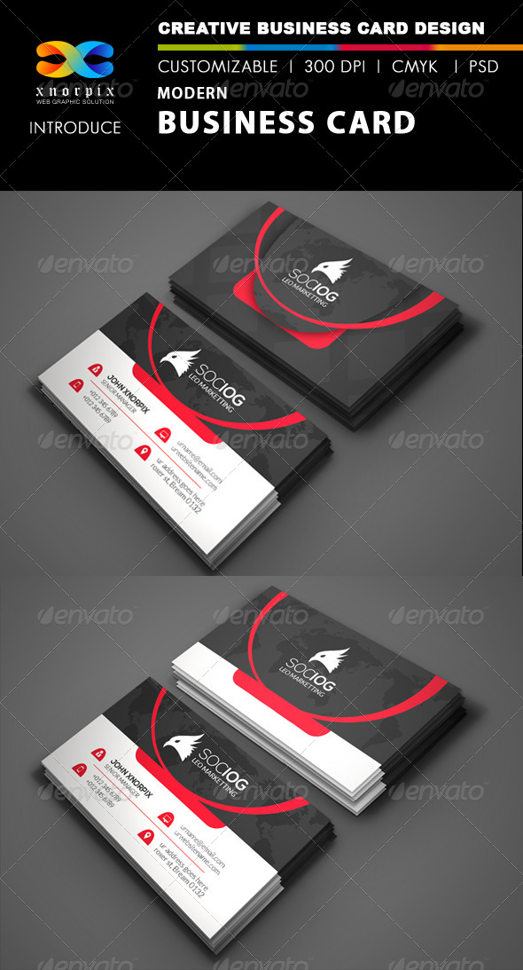 GraphicRiver Modern Business Card 8513252