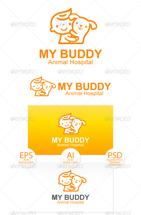 GraphicRiver My Buddy-Pet Care Logo 8494513