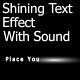 Shining Text effect with Sound - ActiveDen Item for Sale