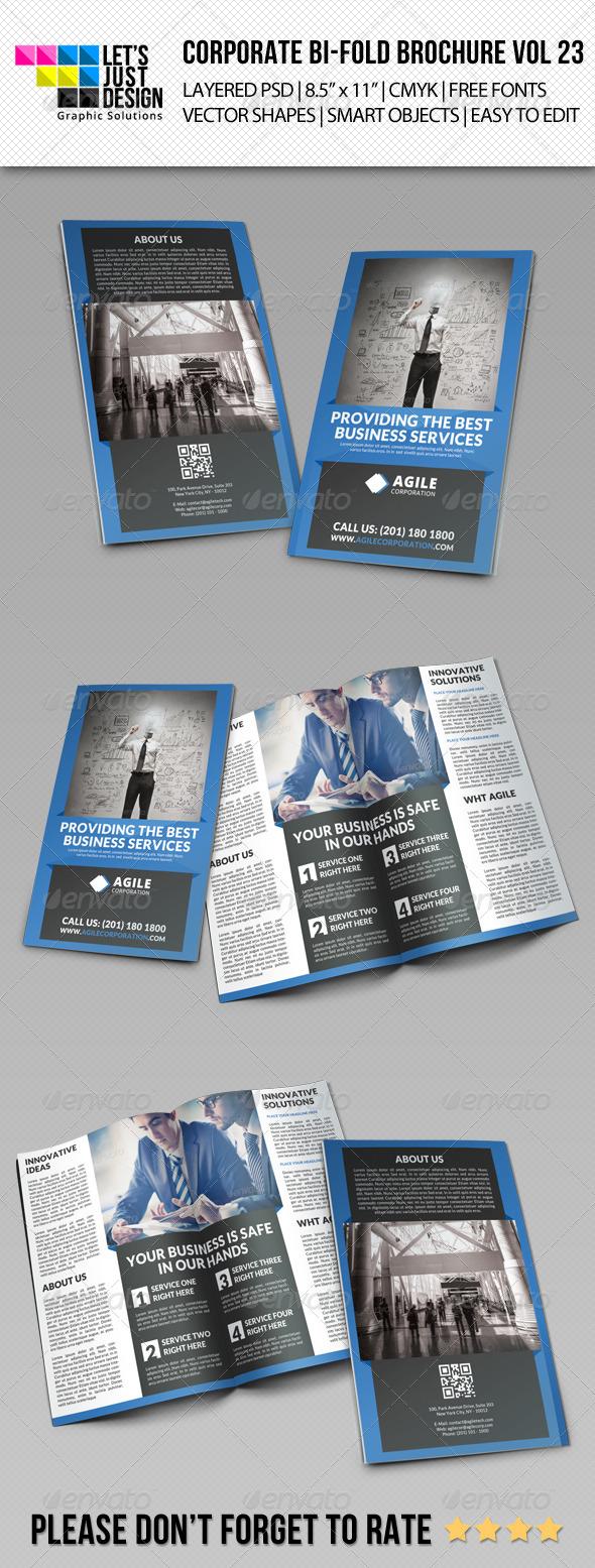 GraphicRiver Creative Corporate Bi-Fold Brochure Vol 23 8513566