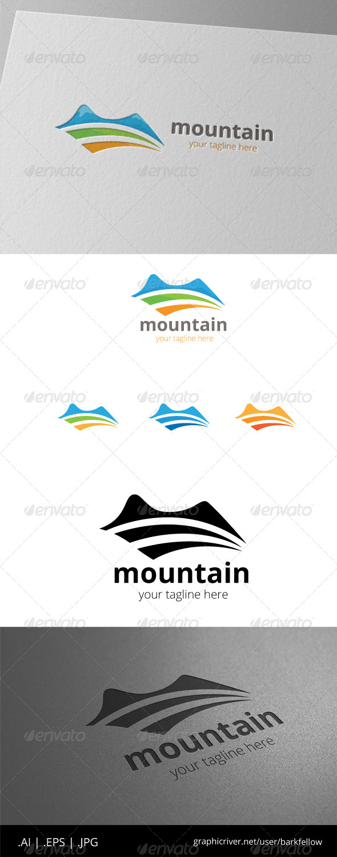 GraphicRiver Mountain Farm Green Land Logo 8513586