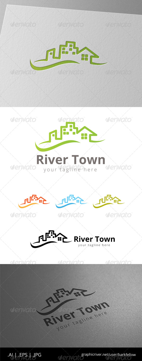 GraphicRiver Home River City Real Estate Logo 8513588