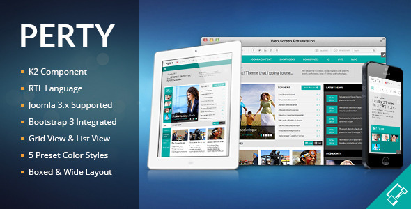 ThemeForest Perty Responsive News Magazine Joomla Template 8456599