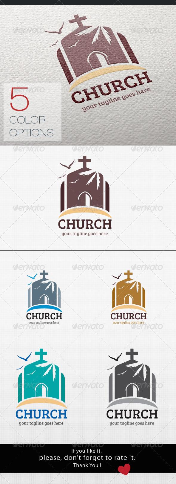 GraphicRiver Church Logo 8514086