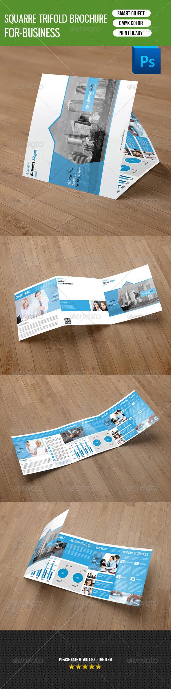 GraphicRiver Square Trifold Brochure-V25 8514094