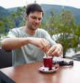 Man having coffee outdoor - PhotoDune Item for Sale