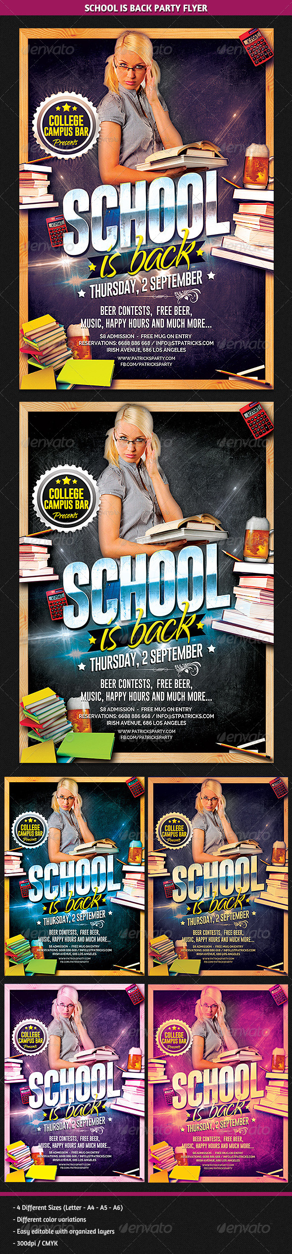 GraphicRiver School is Back Party Flyer 8514151