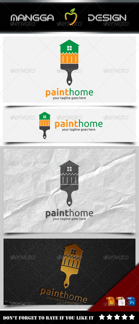 GraphicRiver Paint Home Logo 8514153
