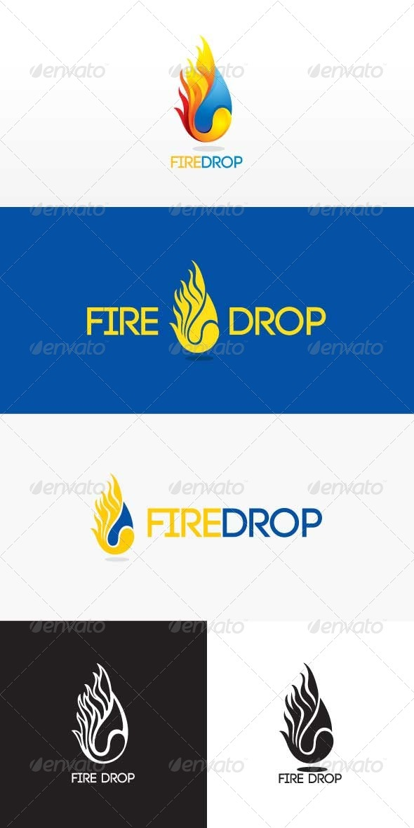 GraphicRiver Fire Drop Stock logo Template 8514172