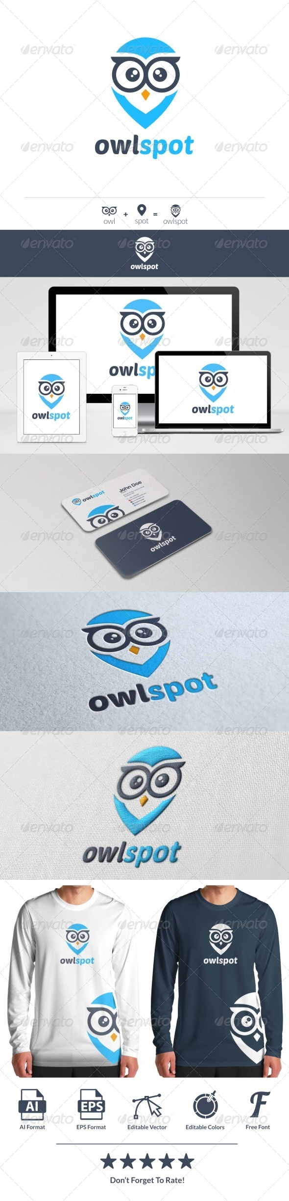 GraphicRiver Owl Spot Logo 8514197