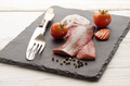 pink herring with vegetable on slate - PhotoDune Item for Sale