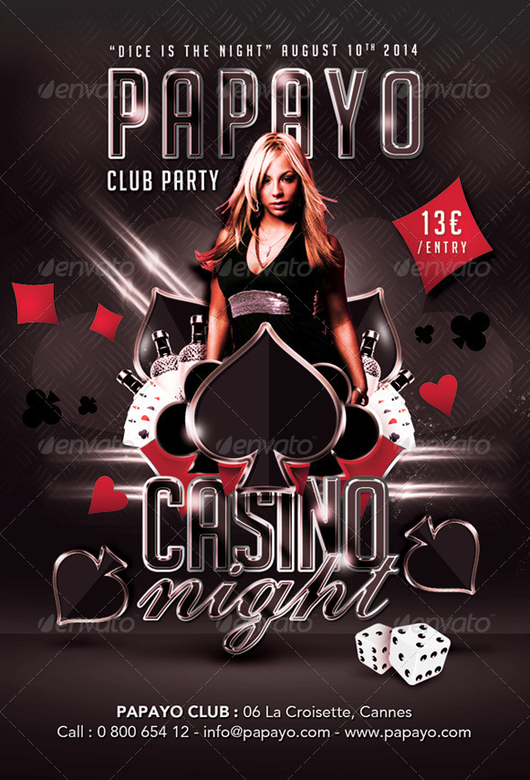 GraphicRiver Dice Is Casino Night Club Party 8510969