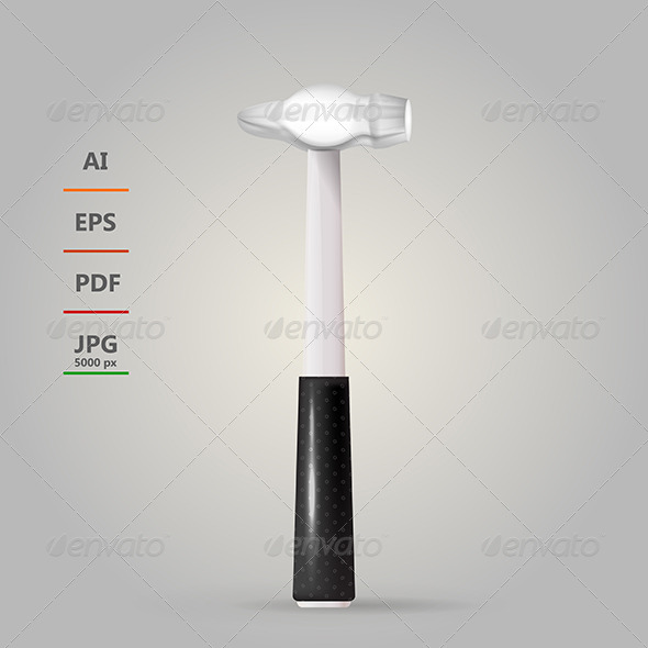 GraphicRiver Illustration of Steel Hammer 8514482