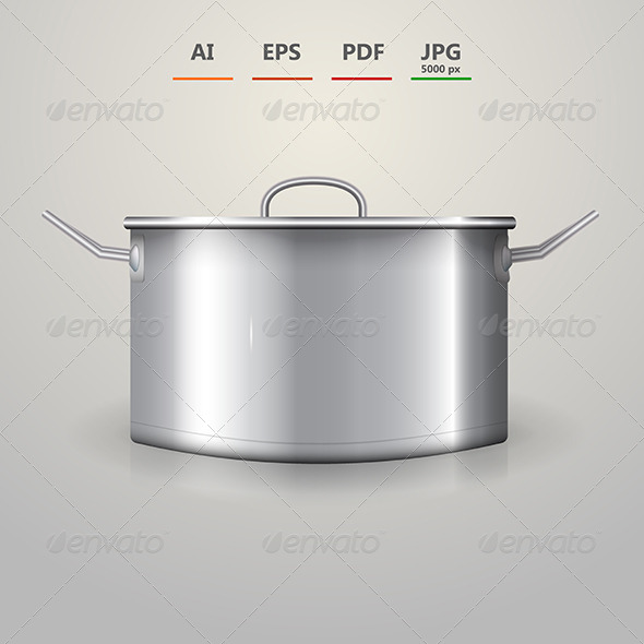 GraphicRiver Illustration of Aluminum Saucepan 8514495