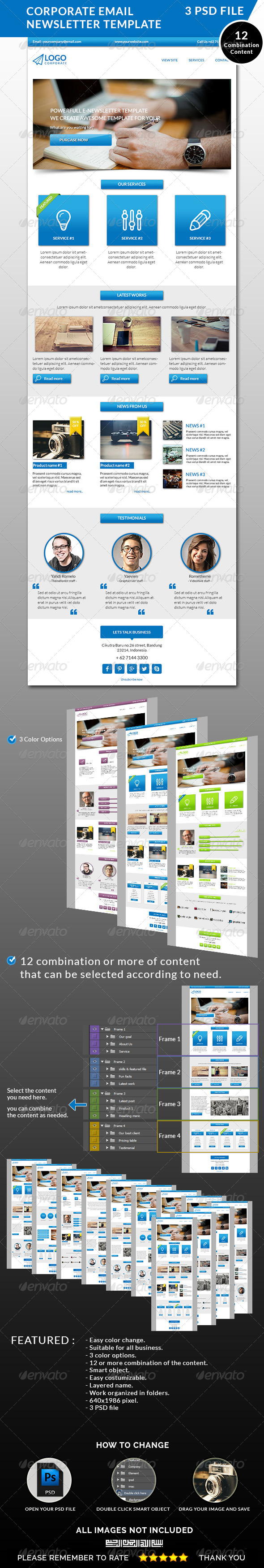 GraphicRiver Corporate Email Newsletter Template 8510916