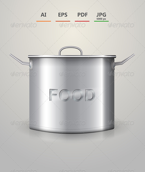 GraphicRiver Illustration of High Aluminum Saucepan 8514498