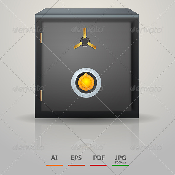 Vector Illustration of Safe