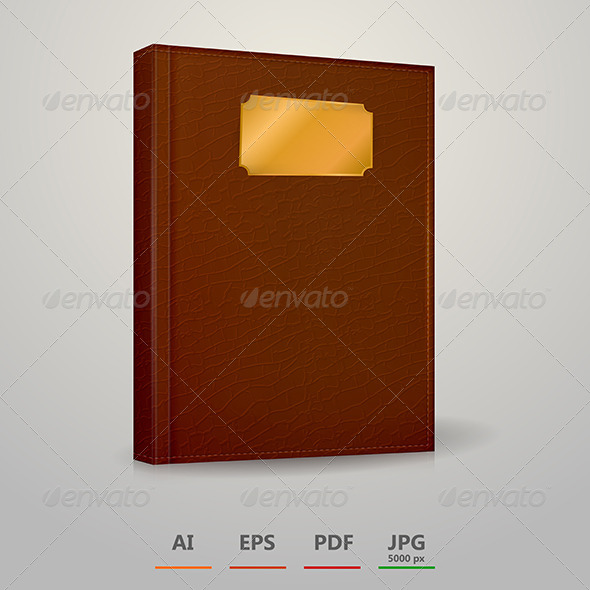 GraphicRiver Vector Illustration of Brown Notebook 8514568