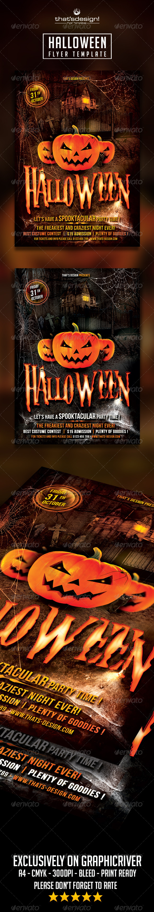 GraphicRiver Halloween Flyer Template 8514605